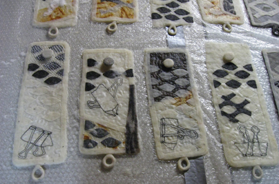 Broken Shackles series in process (STRONGFELT works, 2011)