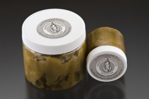 4oz and 16oz reusable containers of Traditional Moroccan Olive Oil Soap