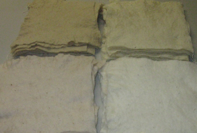 Commercially produced needle felted batts mordanted (STRONGFELT STUDIO, 2013)