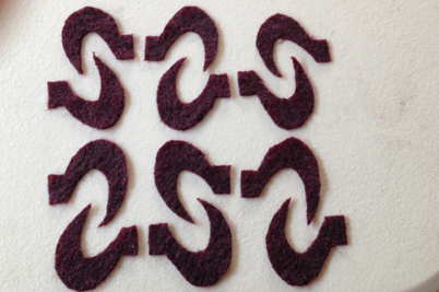 STRONGFELT sample of an arrangement of shapes cut from partial felt