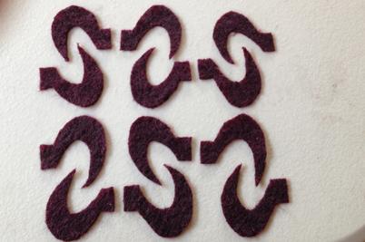 STRONGFELT sample of an arrangement of shapes cut from partial felt