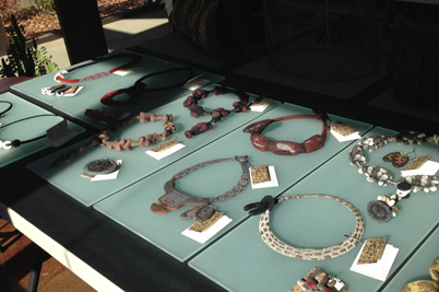 STRONGFELT jewelry on display during an OPEN STUDIO.