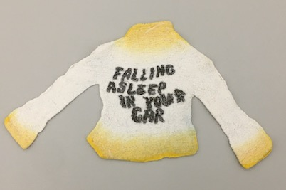 "work of student, Jessie McLaughlin, ""Jessie's Sweater,"" 18.5 x 10.5 in"